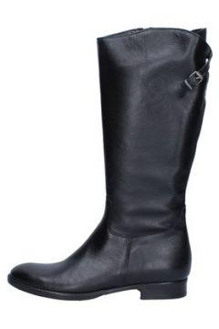 Bottes Trend bottes noir cuir AJ221(115399883)