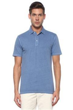 Tru Erkek Dyed Lacivert Polo Yaka T-shirt Mavi S EU(118478283)