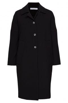 Cocoon Overcoat Wollmantel Mantel Schwarz CATHRINE HAMMEL(114152650)