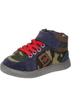 Chaussures enfant Blaike sneakers bleu daim vert cuir AD769(115393771)
