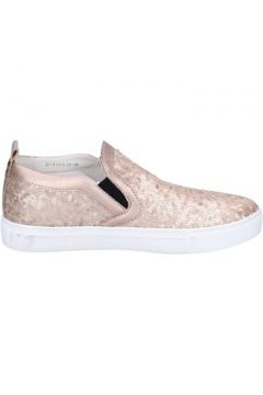 Chaussures London slip on mocassins rose paillettes cuir BT457(115442850)