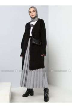 Gray - Unlined - Cotton - Skirt - Benin(110327871)