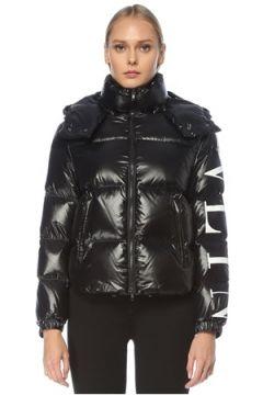 Valentino Kadın VLTN Siyah Kapüşonlu Puff Mont 40 IT(123086145)