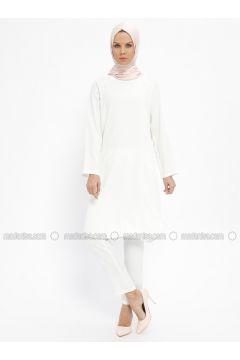 White - Ecru - Unlined - Suit - Emsale(110322149)