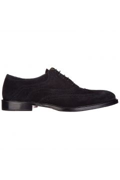 Men's classic suede lace up laced formal shoes brogue wilson(118070725)