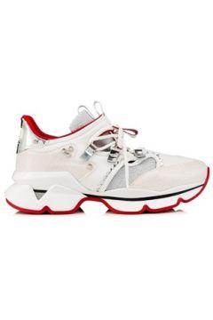 Christian Louboutin Kadın Beyaz Parlak Dokulu Deri Garnili Sneaker 4 EU(113464178)