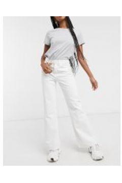 Waven - Jeans a zampa bianco ottico(121197216)