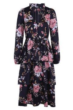 **Girls On Film Multi Colour Floral Tie Midi Dress(94906170)