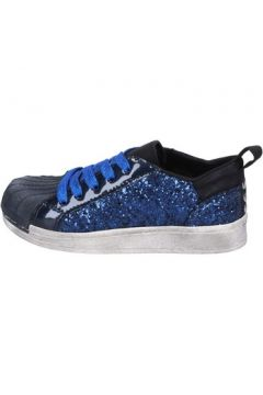 Chaussures enfant Holalà sneakers bleu glitter cuir verni BT330(115442791)