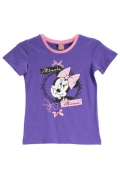 Mickey Mouse Mickey & Minnie Mouse Lisanslı Açık Gri Kız Çocuk T-Shirt(119158277)