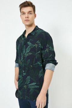 Koton Erkek Klasik Yaka Uzun Kollu Desenli Gömlek(115892738)