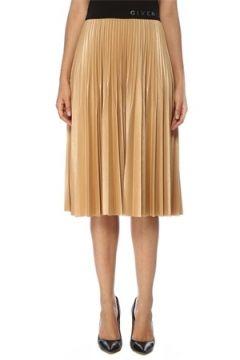 Givenchy Kadın Bej Siyah Pilili Kolsuz Midi Elbise 36 IT(119785504)