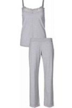 Pyjama mit Spitze Skiny stone grey melange(117063791)