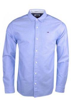 Chemise Tommy Jeans Chemise bleu ciel à motifs régular pour homme(115400304)