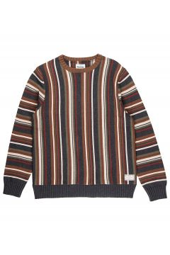 Rhythm Vacation Stripe Knit Sweater bruin(116968614)
