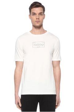 Scotch & Soda Erkek Beyaz Yazı Baskılı T-shirt XXL EU(116665580)