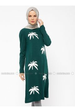 Green - Crew neck -- Tunic - NOVİNZA(110319453)