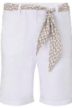 TOM TAILOR Damen Chino Relaxed Bermuda-Shorts mit Bindegürtel, weiß, Gr.36(114529194)