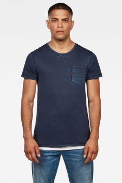 G-Star RAW Men Muon Pocket T-Shirt Dark blue(117926993)