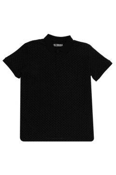 Lee Cooper Nature Siyah Polo Yaka T-Shirt(116992301)