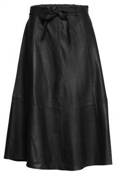 50158 Knielanges Kleid Schwarz DEPECHE(108839500)