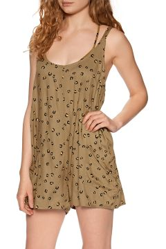 RVCA Miss Me Playsuit - Almond(110374297)