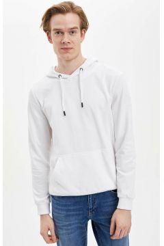 DeFacto Erkek Kapüşonlu Slim Fit Sweatshirt(108988522)