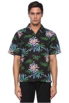 Kenzo Erkek Siyah Kamp Yaka Çiçek Desenli Hawaii Gömlek S EU(120884929)