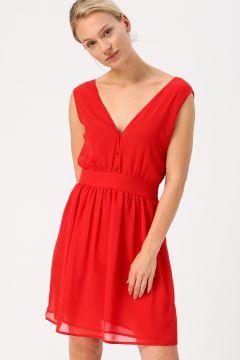 Beymen Studio Kırmızı V Yaka Elbise(113976595)