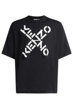 T-shirt Kenzo T-shirt Sport noire avec logo croisé(127972164)