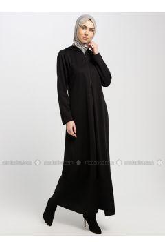 Black - Unlined - Abaya - EFE FERACE(110322391)