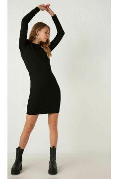 Kadın Omuzları Vatkalı Mini Esnek Kalem Elbise(125084246)