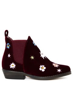 Halbstiefel Velours Stickereien Lily(112327985)