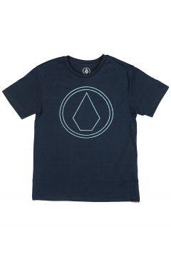 Volcom Pin Stone Heather T-Shirt blauw(85188197)