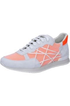 Baskets L4k3 sneakers blanc daim orange textile BZ443(115399095)