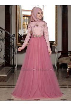 Dusty Rose - Unlined - Crew neck - Muslim Evening Dress - DressLife(110332075)