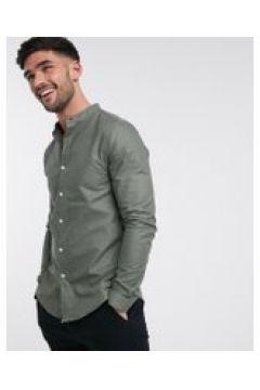 New Look - Camicia Oxford serafino a maniche lunghe kaki-Verde(120261403)