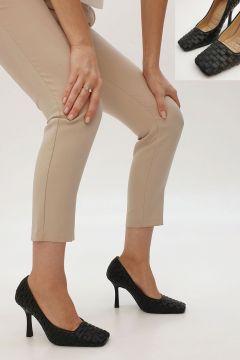 Marjin Siyah Nilda Klasik Topuklu Ayakkabı Topuklu Ayakkabı 20K0083Ls2080(121886546)