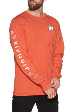 T-Shirt à Manche Longue Rip N Dip Lord Nermal - Texas Orange(111333256)