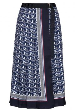 Hcw Monogram Skirt, Knielanges Kleid Blau HILFIGER COLLECTION(114163948)