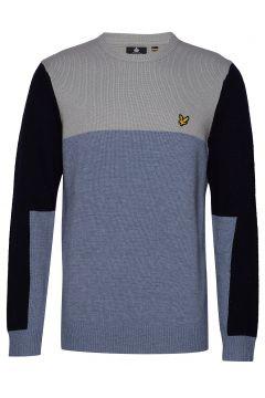 Colourblock Crew Sweat-shirt Pullover Blau LYLE & SCOTT(114156088)