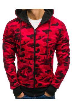 Veste Monsieurmode Veste camouflage à capuche Veste zippée M461 rouge(115404233)
