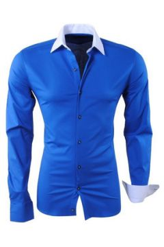 Chemise Kc 1981 Chemise slim fit pour homme Chemise 1123 bleu et Blanc(115404227)