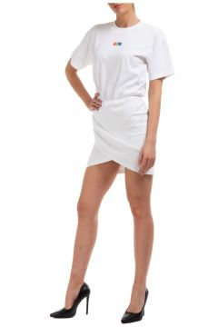 Women's knee length dress short sleeve(118300757)