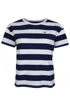 T-shirt Tommy Jeans T-shirt court rayé bleu marine et blanc pour femme(115511195)