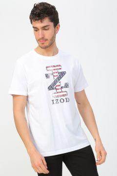Izod Beyaz Baskılı T-Shirt(113982934)