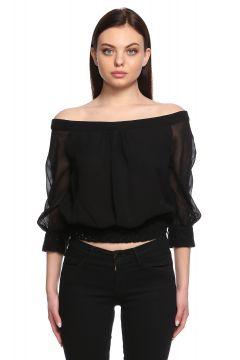 Versace-Versace Kayık Yaka Siyah Gömlek(115704790)