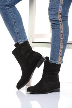 Shoes Time Siyah Süet Kadın Bot(116816230)