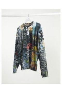 Jaded London - Electric Collage - Top a maniche lunghe-Multicolore(120279335)