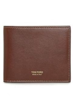 Tom Ford Erkek Taba Logolu Deri Cüzdan Turuncu EU(126218008)
